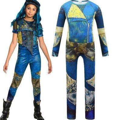 萬聖節變裝秀化裝舞會兒童表演服裝女童cosplay派對裝扮Descendants星光繼承者