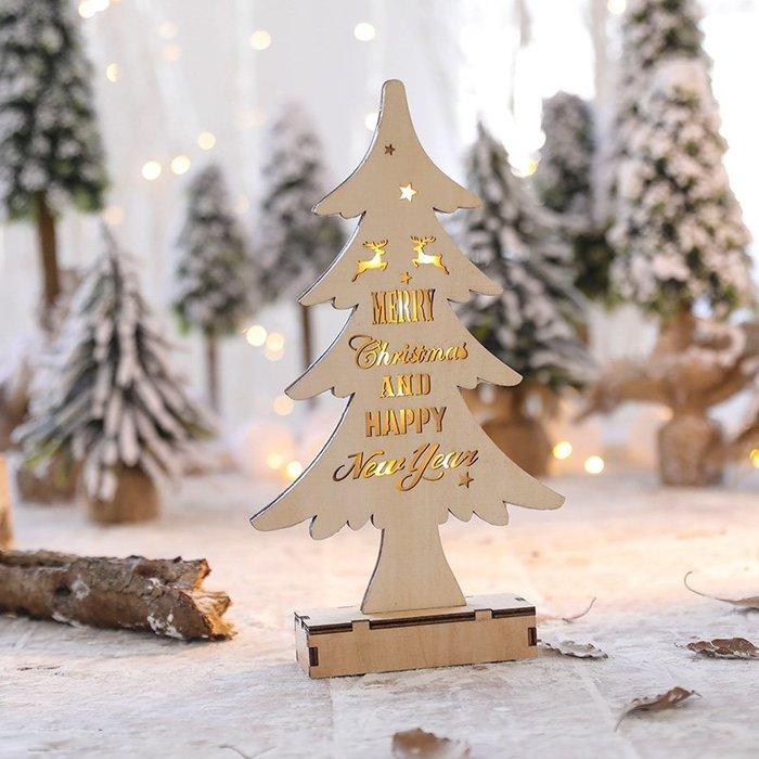 發光 聖誕麋鹿木質迷你小 聖誕樹擺件 聖誕節裝飾品開業布置 聖誕禮物 聖誕禮物 聖誕裝飾  交換禮物 掛飾