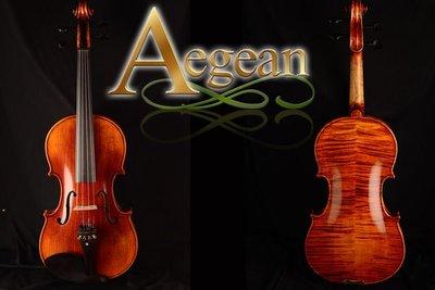 【嘟嘟牛奶糖】Aegean.高檔虎紋手工小提琴.15號琴.精緻嚴選.世界唯一限量