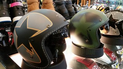 瀧澤部品 ZEUS 瑞獅 ZS-380 FA K56 彩繪款 消光綠黑 復古帽 內藏墨片半罩 安全帽 偉士牌哈雷美式機車