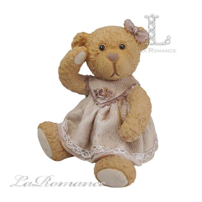 【義大利 Cupido & Company 特惠系列】 咖啡色女生情侶熊 (大) / 泰迪熊 / 童趣動物