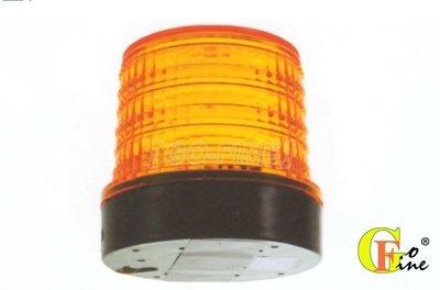 GO-FINE 夠好 台製led警示燈12v~24v 小圓黃直徑110mm磁鐵座 磁吸式旋轉燈 磁吸式警示燈led旋轉燈