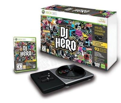 【二手商品】XBOX360 原廠 DJ HERO DJ英雄 混音器同捆 無線轉盤 含遊戲片【台中恐龍電玩】