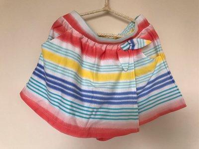 全新Gymboree 繽紛線條女童褲裙、尺寸:7