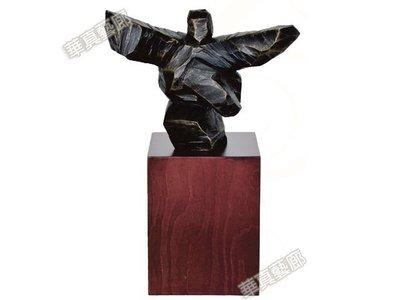 太極抽象.立體雕塑.擺飾 -砂岩雕 19x23cm 雄才大略【華真藝廊】