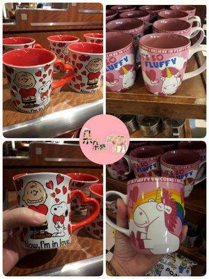 限時特價(獨角獸馬克杯)~日本環球影城 小小兵獨角獸馬克杯&史努比愛心馬克杯?朵朵醬代購?