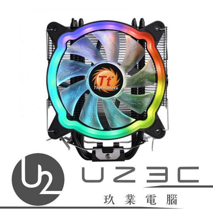 【嘉義U23C 含稅附發票】Thermaltake 曜越 UX200 ARGB CPU 散熱器 塔扇 5V RGB
