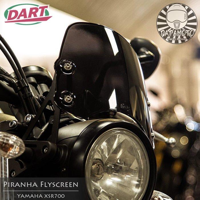 YAMAHA XSR700 - DART FLYSCREEN Piranha 短版 風鏡 (復古 咖啡 頭罩 風罩)