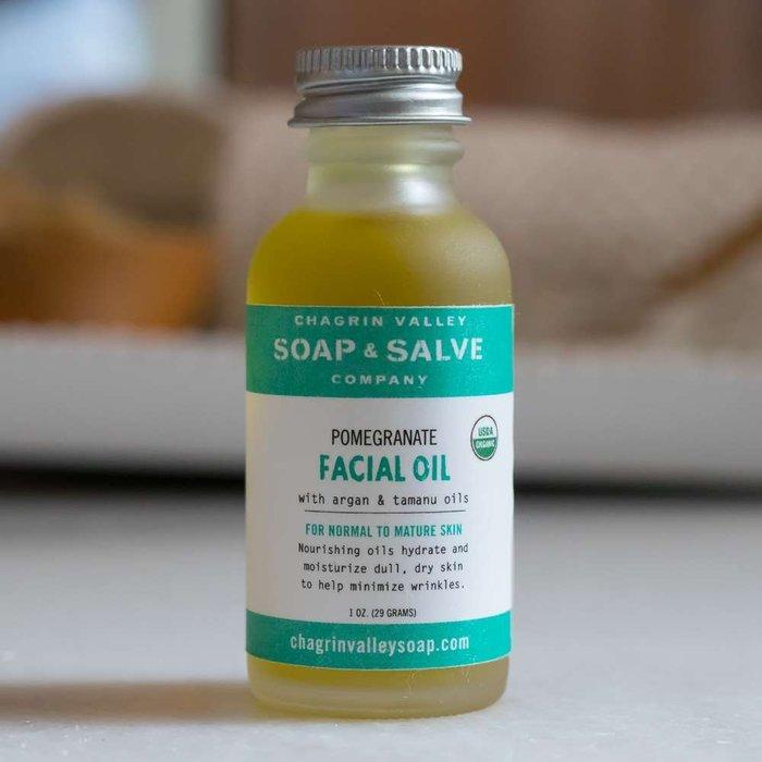美國Chagrin Valley 有機石榴籽&摩洛哥堅果油臉部保養精華油 1OZ(約77g)