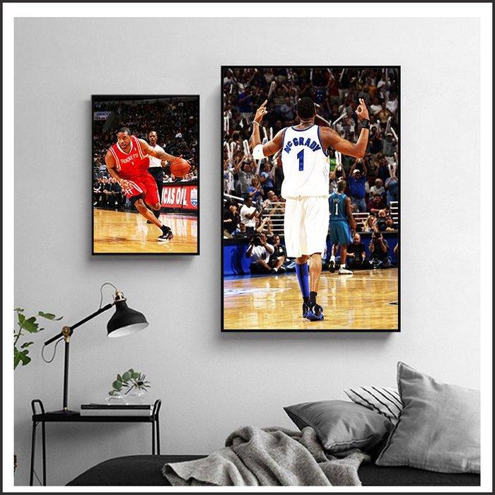 日本製畫布海報 NBA Tracy McGrady T-MAC 麥格雷迪 無框畫 掛畫 裝飾畫 @Movie PoP #