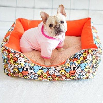 狗狗墊子寵物窩墊冬季保暖可拆洗我是一只小法斗定制用品專屬狗窩禮物