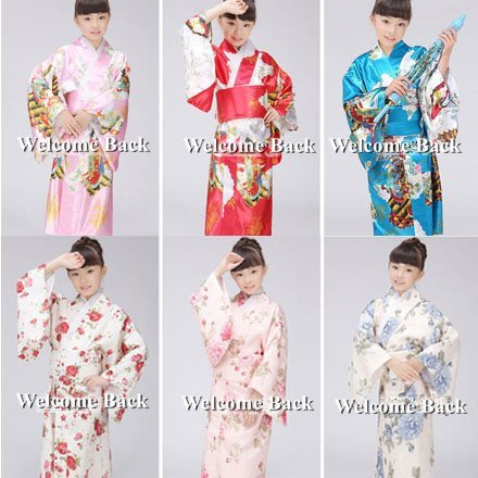 cos女兒童日本式傳統和服睡袍浴衣表演出寫真舞蹈服裝(兩件免運)