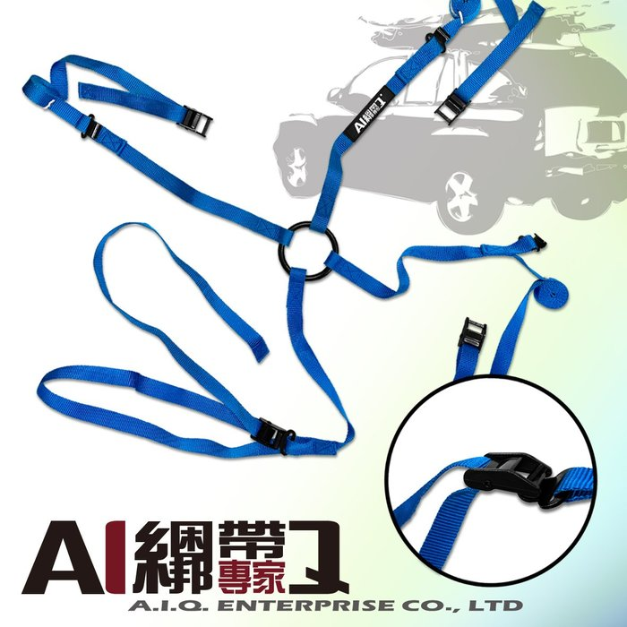 A.I.Q.綑綁帶專家-LT5131-15 車頂行李箱 車頂行李盤 車頂貨物固定綁帶25mm x 1.5M