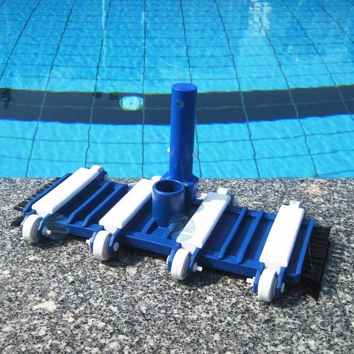【奇滿來】游泳池吸汙機  水底吸塵刷 14吋底部帶毛刷吸汙頭 水底吸塵頭 池底清潔 AQAK