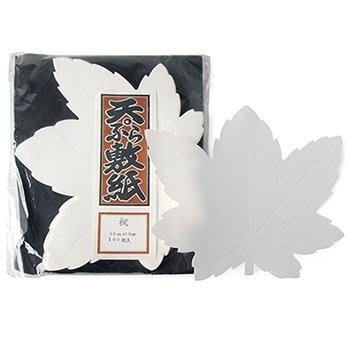【日本進口】楓 100枚入 八吋天婦羅敷紙 081-1