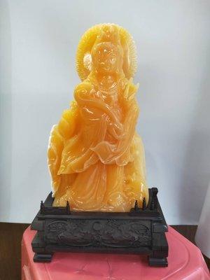 正宗印尼金田黃 金凍石系列 觀音霸氣擺件 金石篆刻 雅安綠壽山石