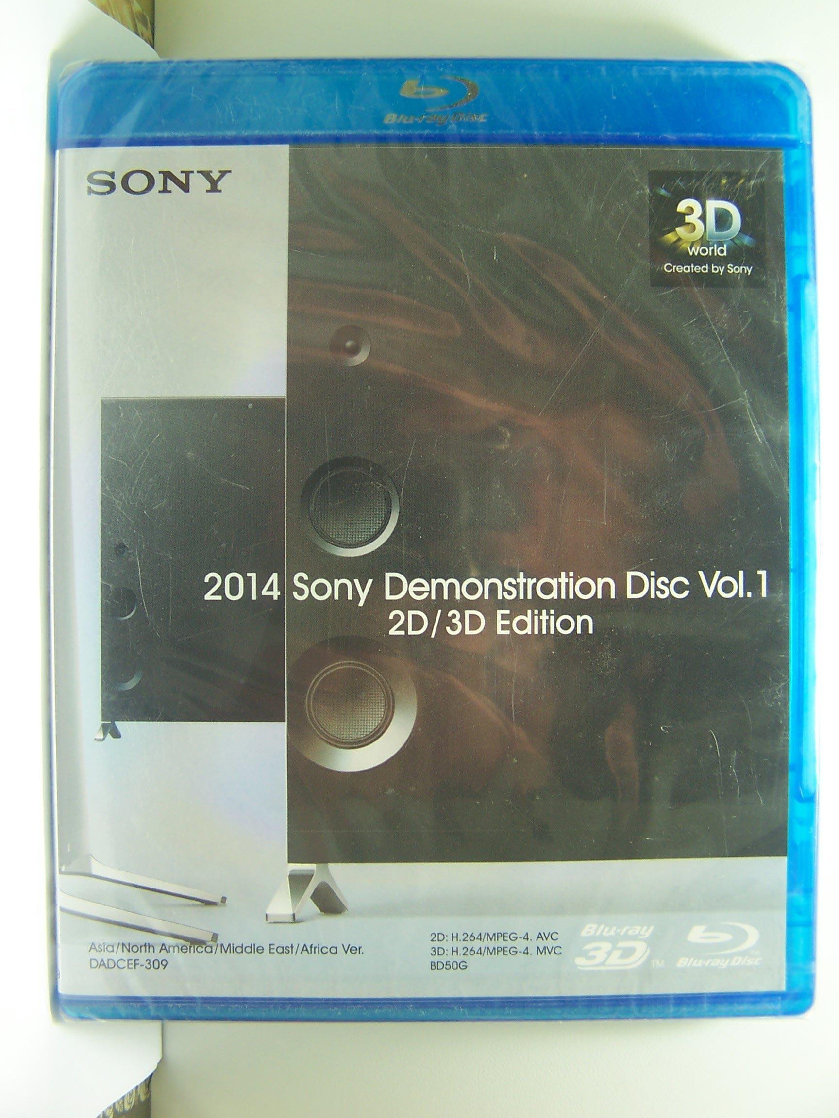 【藍光BD】895.罕見的SONY 2014年藍光示範片第1集(曲目詳照片),有2D,3D及4K示範影片