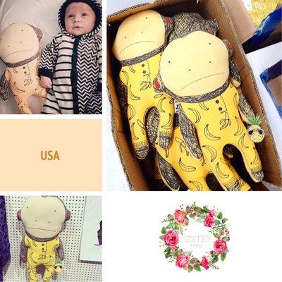 Sis 歐美 安撫玩偶 陪睡小夥伴 嬰兒 北歐 呆呆猴 嬰兒房 IKEA 滿月禮 月子包