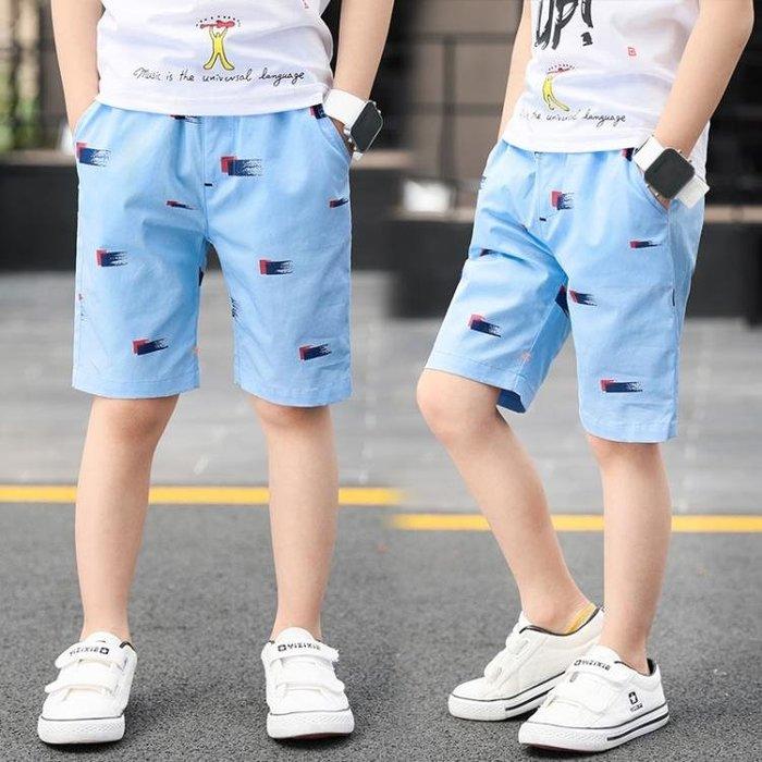 男童短褲夏裝2018新款兒童五分褲休閒薄款棉質中大童外穿七分褲子