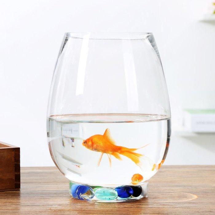 #創意 裝飾品 居家大號特價透明玻璃花瓶 水培恐龍蛋綠蘿花盆魚缸圓形水養植物器皿