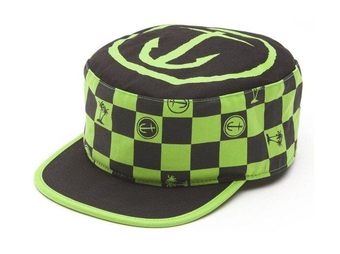 { POISON } VANS x CAPTAIN FIN PAINTERS HAT CAP 龐克黑綠格紋 軍帽