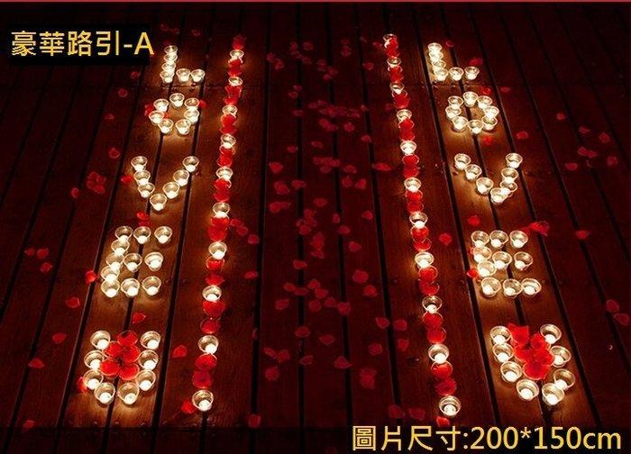 排字 求婚 表白 蠟燭套餐 豪華版 路引 浪漫之路 求婚蠟燭 排字蠟燭 情人節 浪漫套餐 27號【P11002101】