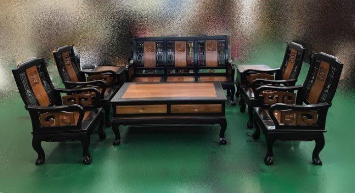 台中二手家具買賣推薦西屯樂居全新中古傢俱 家電 OP-0072EJE*庫存8件原木紫柚麒麟組椅 木板椅 木頭沙發*
