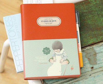 *YOOWOO*A特賣【韓國空運 ICONIC Heart Warming 艾希莉 溫暖記憶 行事曆 萬用手冊 ~ 復古橘】