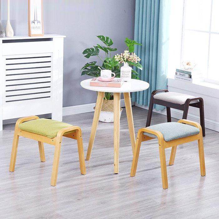 換鞋凳時尚創意圓凳實木客廳坐凳現代簡約布藝矮凳小凳子板凳家用小凳子板凳