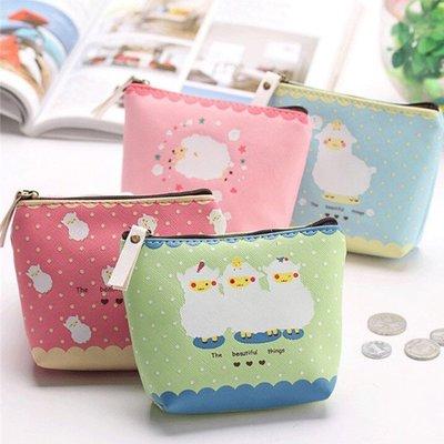 包包【HPN020】迷你Q可愛綿羊零錢包  防水 隨身包 購物包 零錢包 手提包 化妝包-收納女王