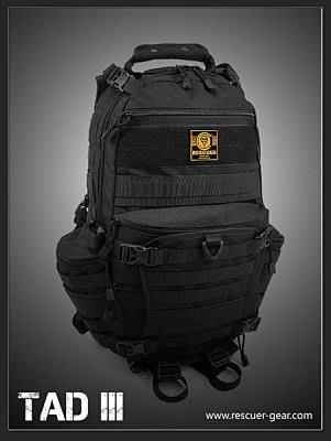戰術後背包 RESCUER拯救者TAD III 露營登山旅行porter箱 相機攝影包 (黑色)