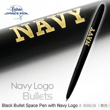 【angel 精品館 】美國Fisher Space Pen with Navy Logo海軍標誌-黑色400BUSN