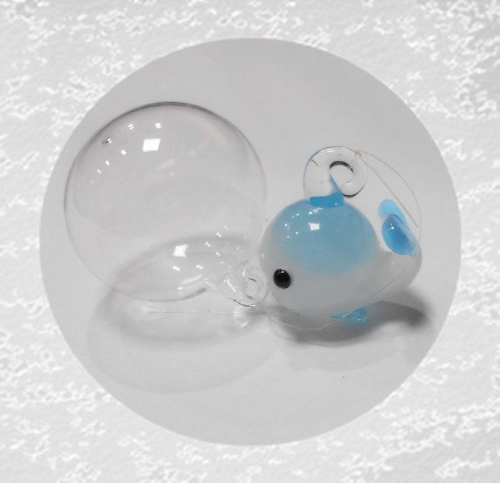 微笑的魚水族☆【飾品王國】【手工彩色玻璃 浮球小動物 B】顏色隨機出貨~