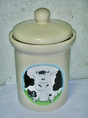 aaL集.全新可愛牛牛造型陶瓷收納罐!!--提供給需要的人!/6房壁箱/-P