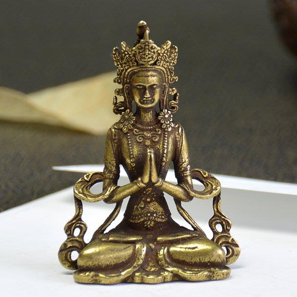 【睿智精品】銅佛像 藏傳佛教 觀音度母 法像莊嚴 隨身佛 銅製(GA-4400)
