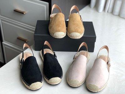 DanDan代購 美國正品 COACH 2021新款 漁夫鞋拖鞋 面採用高丝光羊反絨 內裡墊腳麻繩  附購
