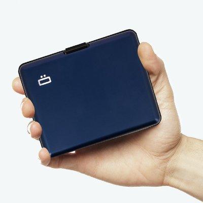 法國原裝進口 OGON Big Stockholm RFID安全防盜經典錢包 Navy Blue 海軍藍