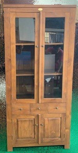 【宏品二手家具館】中古家具 家電 HM040801*全新老柚木書櫃* 書架 雜誌櫃 收納櫃 展示櫃 中古傢俱拍賣