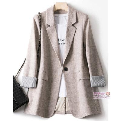 現貨 推薦款 休閒復古英倫西裝外套 3色 M-2XL 萌蔓物語 【KX4010】韓氣質女風衣