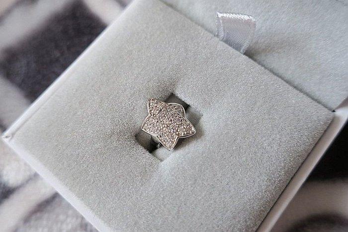 *Beauty*ARTE人造鑽石 星型耳環 925純銀   單個賣場B  JL 原價3500元