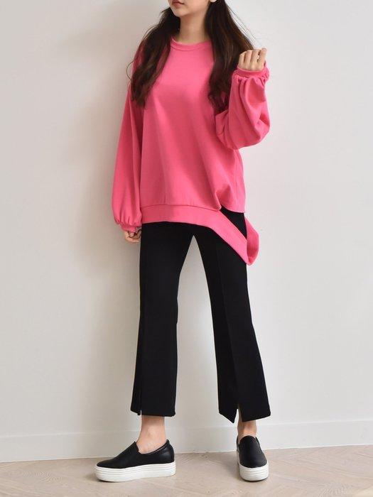 C-Ting 簡約韓國 柔感舒適鬆緊帶式9分褲/ 100%韓國空運
