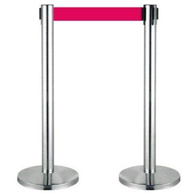【量販2入】不銹鋼伸縮欄柱(室內型)/E86S 開店/欄柱/紅龍柱/排隊/動線規劃