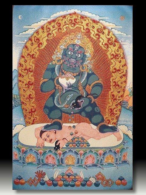 【 金王記拍寶網 】S823 中國西藏藏密佛像刺繡唐卡 刺繡 (大)一張 完美罕見~