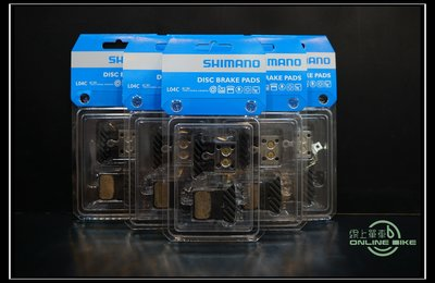 【online bike】線上單車 Shimano L04C 金屬來令片 金屬燒結 碟煞 原廠公司貨