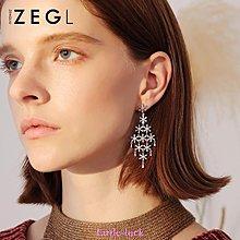 Little-luck~ZENGLIU星星流蘇耳環女韓國氣質長款吊墜耳墜2019新款潮時尚耳飾