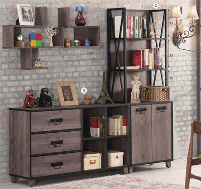 美式loft複古鐵藝書架酒吧咖啡廳裝飾書櫃(2件一組)