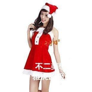 【格倫雅】^聖誕服裝聖誕節服裝聖誕衣服女裝高檔女裙3件套 整組售 cosplay聖誕裝