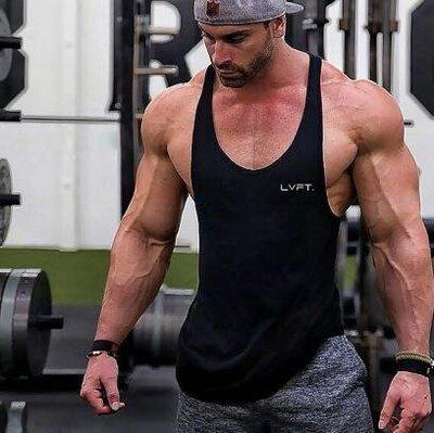 男運動服 運動背心 緊身 夏季 健身男健美工字寬松彈力純棉肌肉型吊帶跨欄訓練潮流個性—莎芭