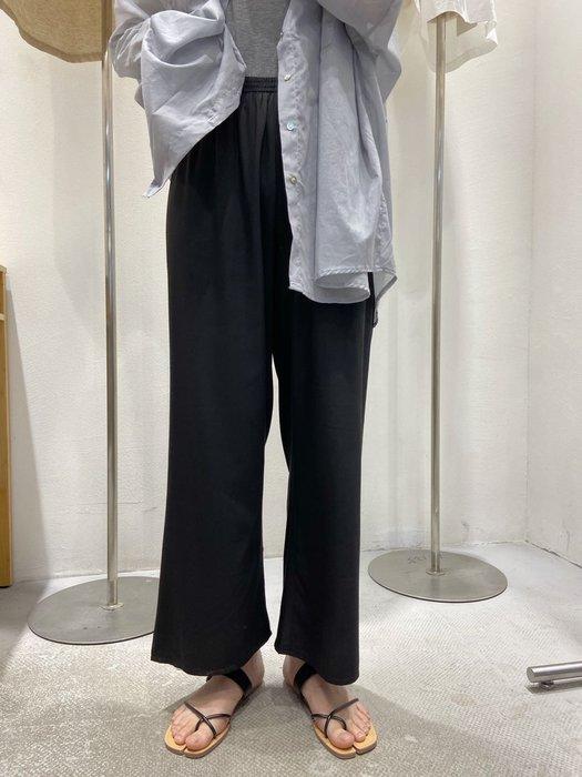 mimi韓裝專櫃2020夏裝新款百搭松緊腰顯瘦直筒闊腿寬松天絲棉親膚休閒褲ins潮