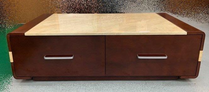台中二手家具買賣 推薦 西屯樂居中古傢俱館 YS902DC*全新大理石大茶几 矮桌 客廳沙發桌*2手桌椅 餐桌書桌電腦桌